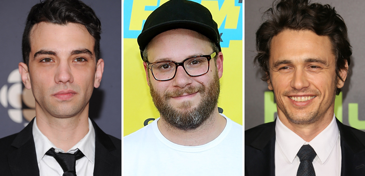 jay baruchel, seth rogen, james franco, birthdays,