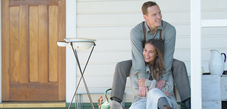 michael fassbender, alicia vikander, the light between oceans, image