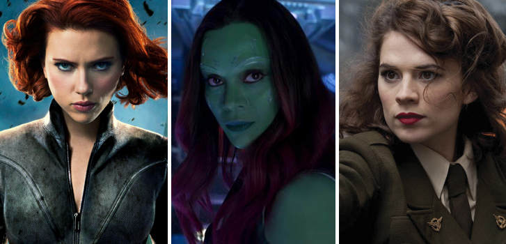 scarlett johansson, zoe saldana, captain america, the avengers, guardians of the galaxy, marvel