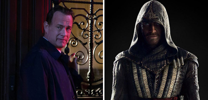 From Michael Fassbender in Assassin's Creed to Tom Hanks in Inferno, what's your favourite movie news this week?