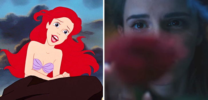the little mermaid, beauty and the beast, disney, emma watson, image