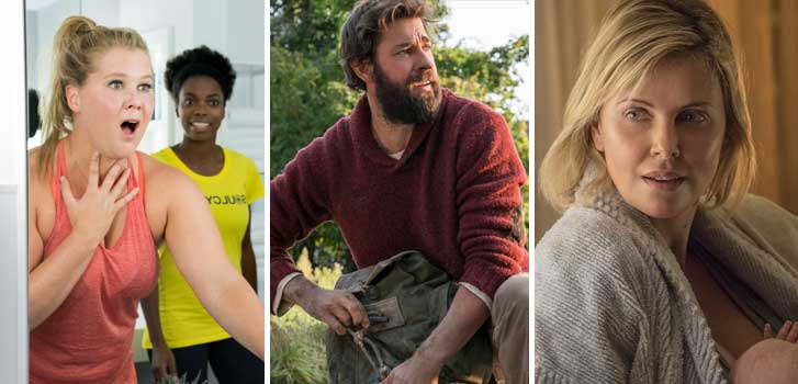 I Feel Pretty, A Quiet Place, Tully and all of the movies at the Cineplex Store in July!