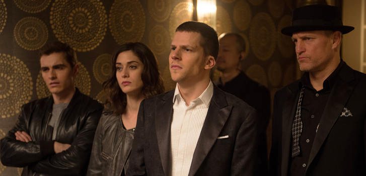 now you see me 2, dave franco, lizzy caplan, jesse eisenberg, woody harrellson,