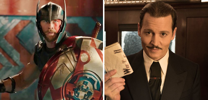 Murder on the Orient Express and Thor: Ragnarok clips top our daily movie news roundup!
