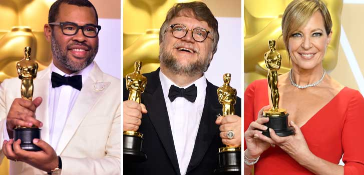 jordan peele, get out, guillermo del toro, the shape of water, allison janney, i tonya, best picture, the oscars,