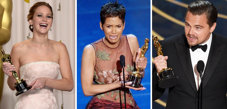 jennifer lawrence, halle berry, leonardo dicaprio, oscars, movies,