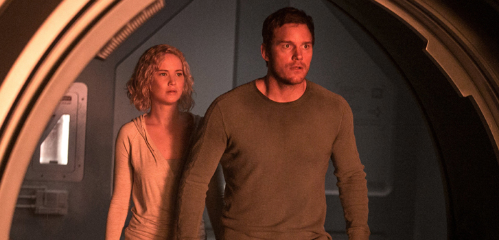 Jennifer Lawrence and Chris Pratt are stranded in space in new Passengers trailer