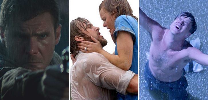 The Shawshank Redemption, The Notebook, Blade Runner and more of our favourite rainy moments in movies!