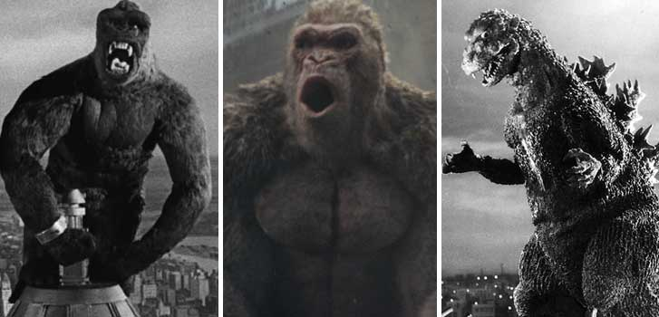 king kong, rampage, godzilla, movie, film,