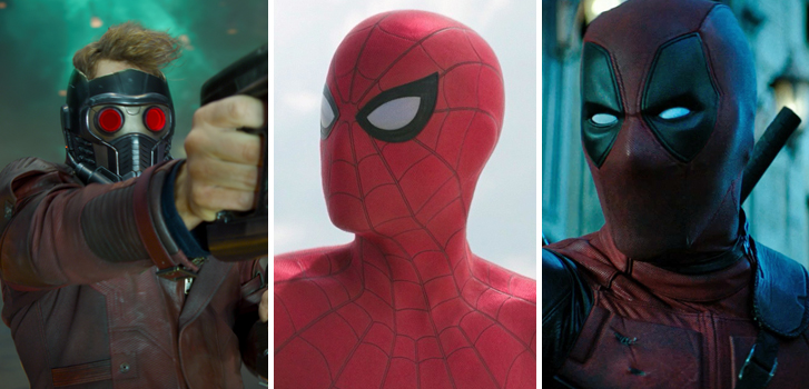 deadpool, guardians of the galaxy, spiderman homecoming, cineplex, roundup, trailers, clips, news