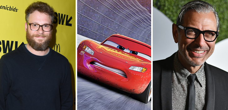 seth rogen, jeff goldblum, cars 3, cineplex, roundup, news, trailers