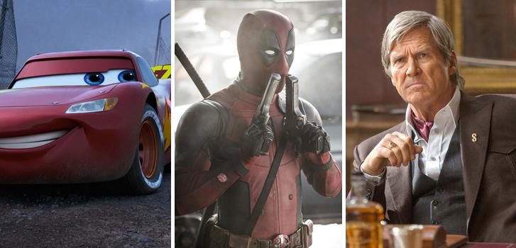 cars 3, deadpool 2, kingsman: the golden circle, cineplex, roundup, news, new, trailers