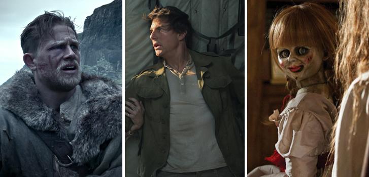annabelle: creation, the mummy, king arthur: legend of the sword, charlie hunnam, tom cruise