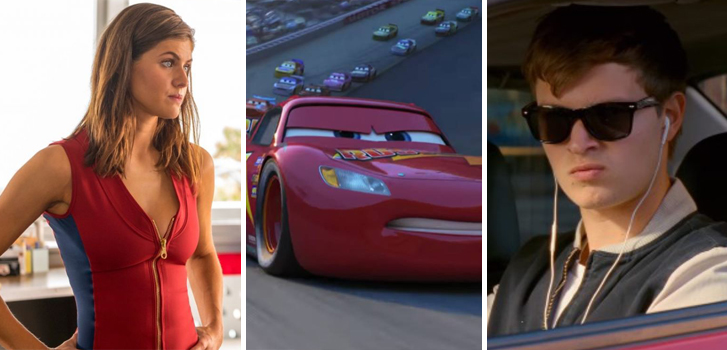 baywatch, cars 3, baby driver, weekly news, new, news, trailers, posters, clips, cineplex