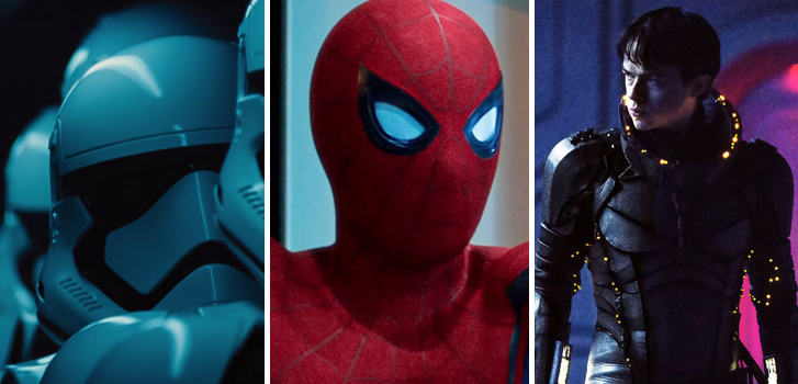 star wars: the last jedi, spider-man: Homecoming, valerian, cineplex, news, movies, trailers, posters, new