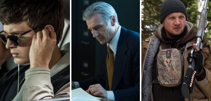 Baby Driver, The Silent Man, and Wind River make our daily movie news