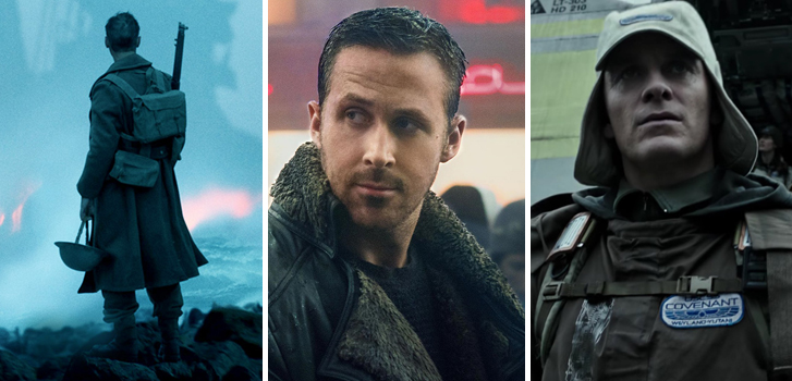 dunkirk, ryan gosling, blade runner 2049, alien, alien covenant, cineplex, roundup, news, trailers, movies, posters, clips