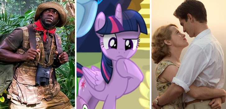jumanji, my little pony, breathe, cineplex, trailers, posters