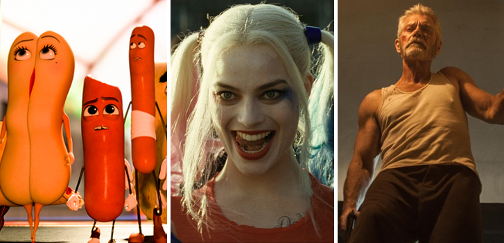 Suicide Squad, Sausage Party and more top our list of movies to watch at home in November