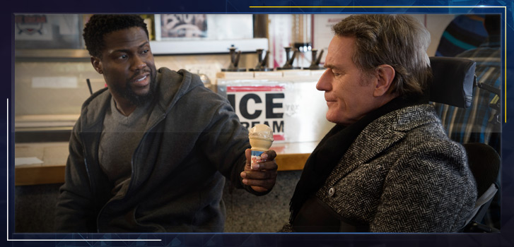 Kevin Hart and Bryan Cranston challenge assumptions and offer up hope in their moving and comical new film, The Upside