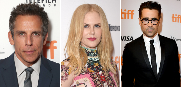Ben Stiller, Nicole Kidman and Colin Farrell arrive in Toronto for TIFF this past weekend!