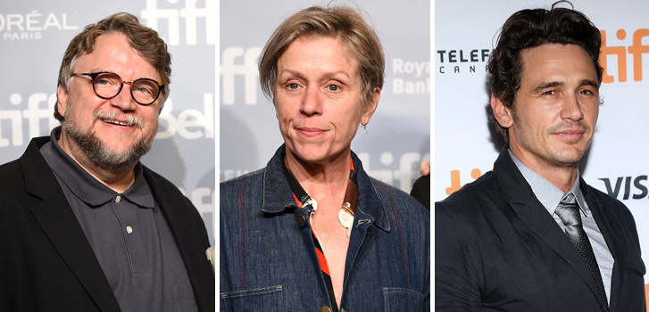 Guillermo Del Toro, Frances McDormand and James Franco brought their films to #TIFF17 on Monday night!