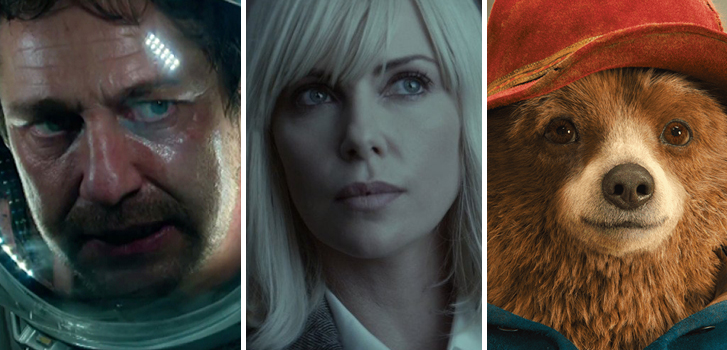 Geostorm, Atomic Blonde, and Paddington 2 make our weekly movie news roundup!